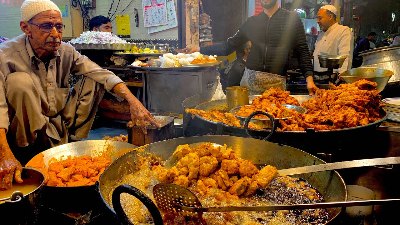 Download Indian FRIED CHICKEN FEAST in DELHI | Old Delhi street food tour | Incredible India street food