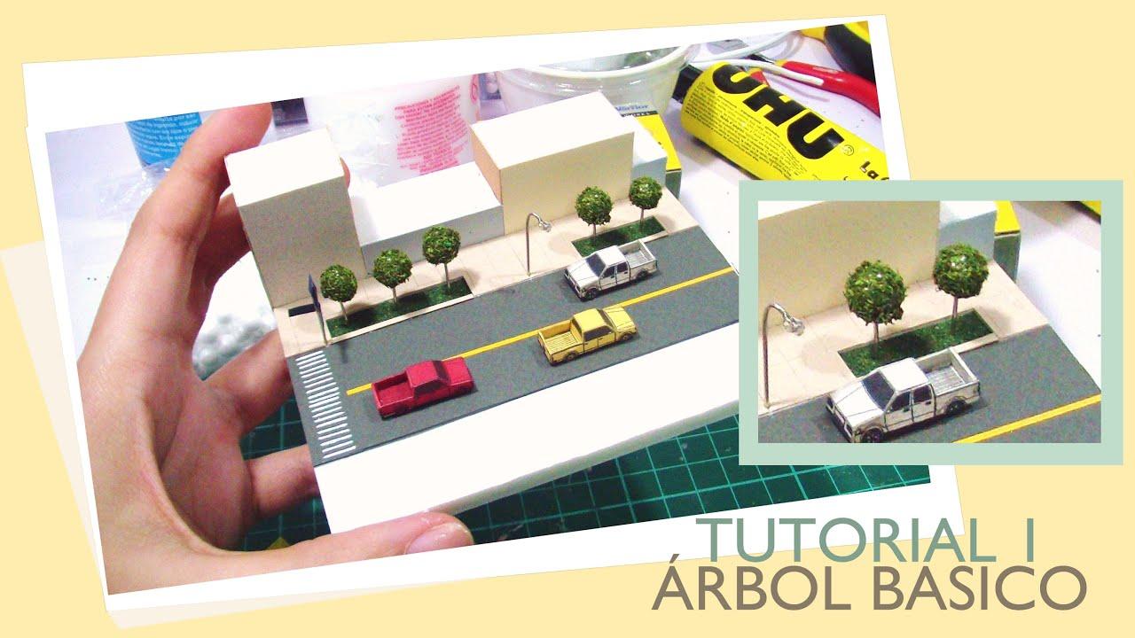 Tutorial de rbol simple para maqueta escala 1 250 youtube for Sillas para una maqueta