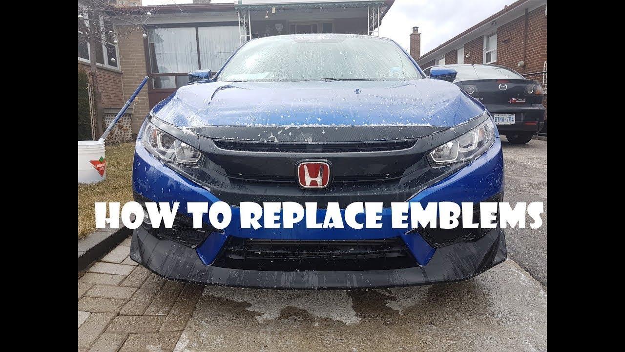Replacing Honda Emblems On 10th Gen Civic Youtube