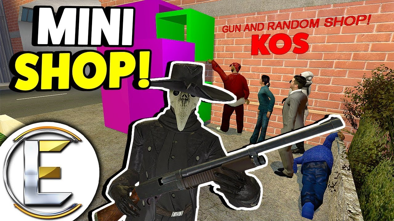 MINI SHOP! - Gmod DarkRP Life (Made The Smallest Gun Shop In The GAME! Was  Raided BY KIDS 24/7)