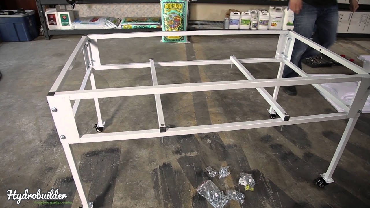 How To Assemble HydroFarmu0027s 2x4 Tray Stand