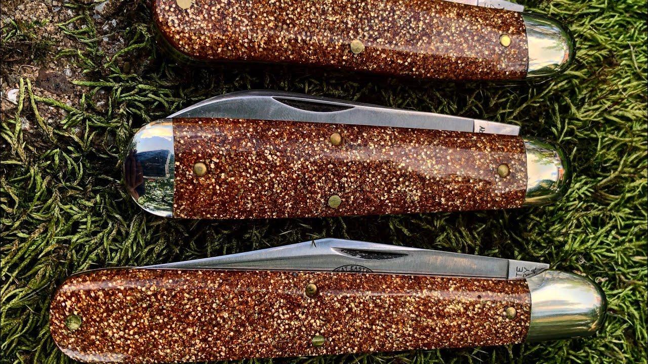 Made Knives: Mini Zulu Tribal No Clip E Bolstered Smooth Titanium J