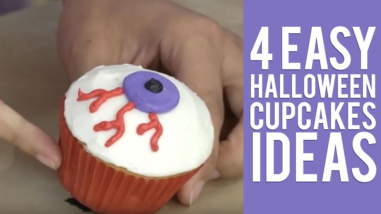 4 easy halloween cupcakes ideas from wilton youtube - Cupcake Decorations For Halloween