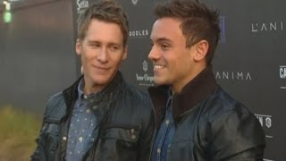 Tom Daley talks about his relationship with Dustin Lance Black at Battersea