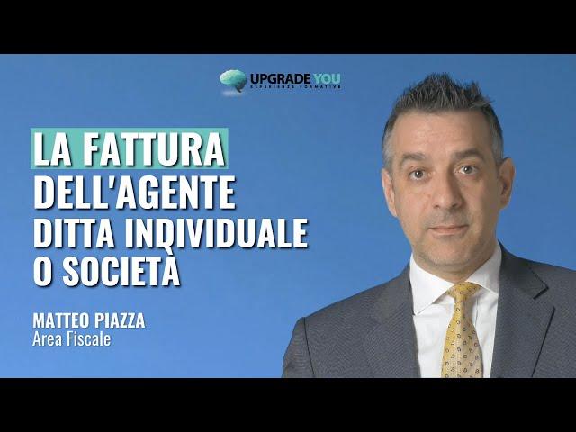 La fattura dell'agente di commercio (non forfetario) ditta individuale o società