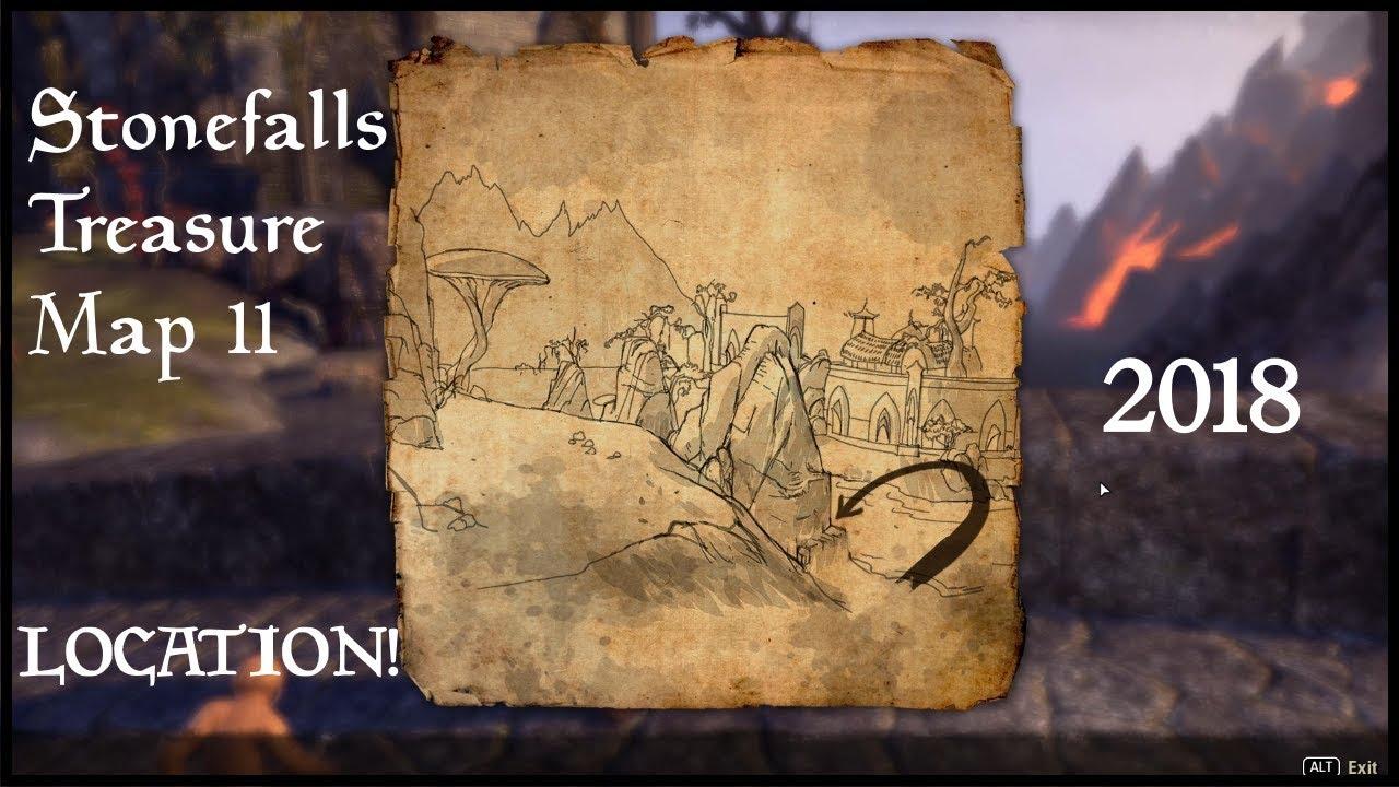 The Elder Scrolls Online | Stonefalls Treasure Map 2 LOCATION! (2018 ...