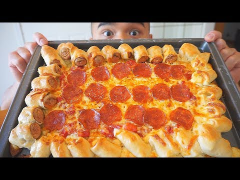 Homemade Sausage & Cheese Crust Pepperoni Pizza Recipe