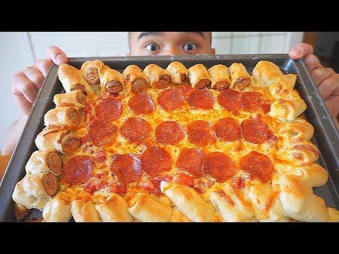 Homemade Sausage & Cheese Crust Pepperoni Pizza Recipe