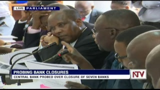 CENTRAL BANK PROBED OVER CLOSURE OF SEVEN BANKS