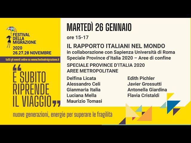 Il Rapporto Italiani nel Mondo in collaborazione con Sapienza Università di Roma
