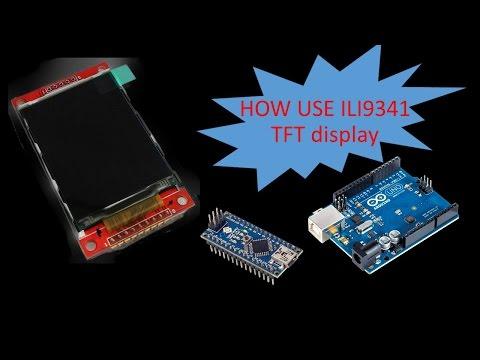 ili9341 2 2 and 2 4' Fast library for Arduino Uno, mini and nano
