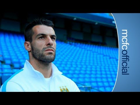 EXCLUSIVE: Alvaro Negredo's first day at City