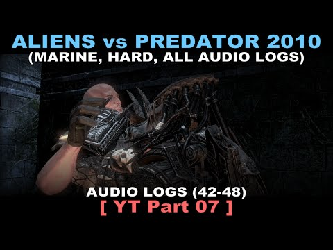 Aliens vs Predator 2010 - Marine walkthrough 07 ( All Diaries, Hard, No commentary ✔ ) Ruins #01