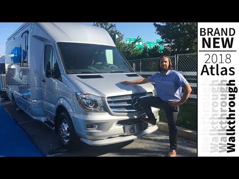 Walk Through 2018 Airstream Atlas Class B+ Touring Coach Mercedes Sprinter RV