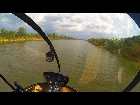 GoPro: R22 Helicopter Add-On Flight #27 WINDY CheckPrep River Run, Autos, Running ...