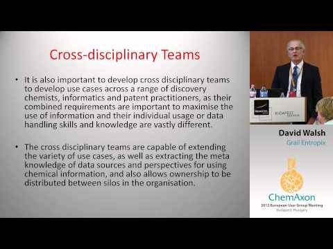 David Walsh (Grail Entropix): Integration of Chemical space: The Case for Use Cases