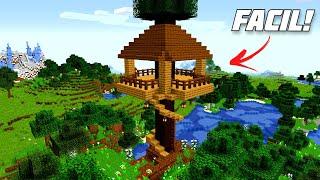 ✔ Como hacer una CASA del ARBOL en Minecraft Survival (FACIL)
