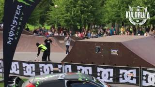 Viral Video UK: Security guard shows stunt riders how its done!
