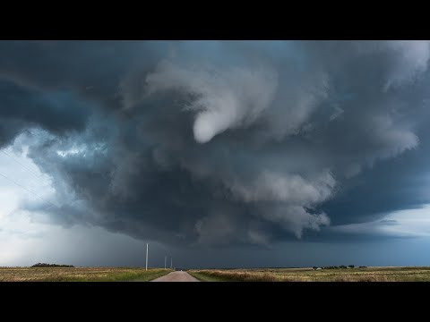 Tornado (4K) - STARING UP the MOUTH of a FUNNEL CLOUD - Indiahoma Oklahoma 10-21-2017