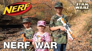 NERF WAR with our Star Wars NERF Guns