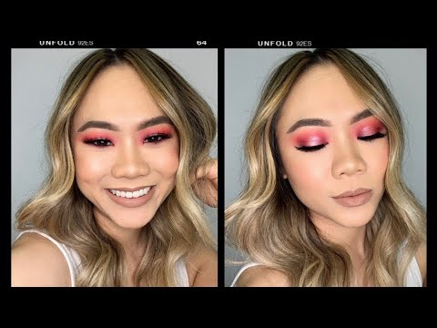 BRIGHT PINK HALO EYE FT. COLOURPOP COSMETICS 'STRAWBERRY SHAKE' PALETTE! | HELEN DUONG thumbnail
