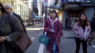 Downtown Vancouver Canada - Walking in City Centre - Dunsmuir Street