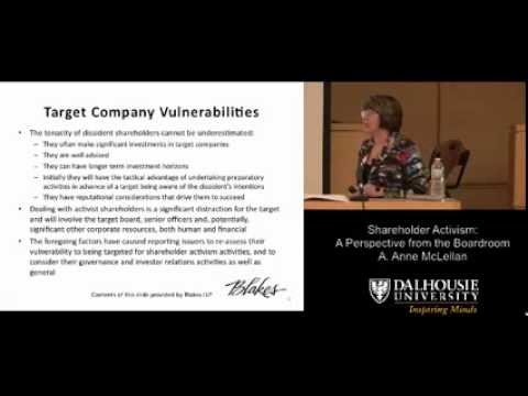 Shareholder Activism: A Perspective from the Boardroom