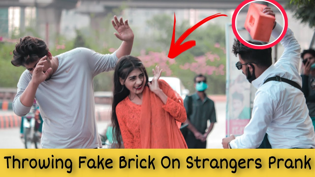 Throwing Fake Brick On People With No Mask | Prank in Pakistan