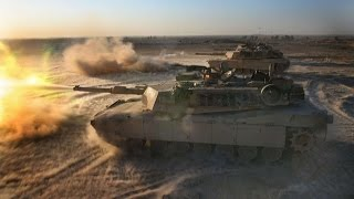 M1A1 Abrams Tank Live Fire Training - Inside M1 Abrams Tank