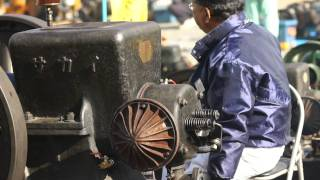 発動機 素材5 大型 Old Kerosene Stationary Engine meeting