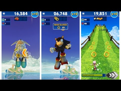 Sonic Dash: Sonic Boom SILVER vs SHADOW vs AMY