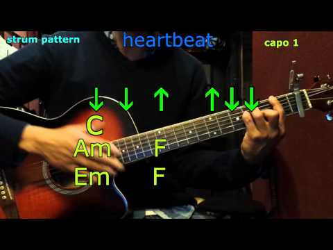 Heartbeat carrie underwood guitar chords