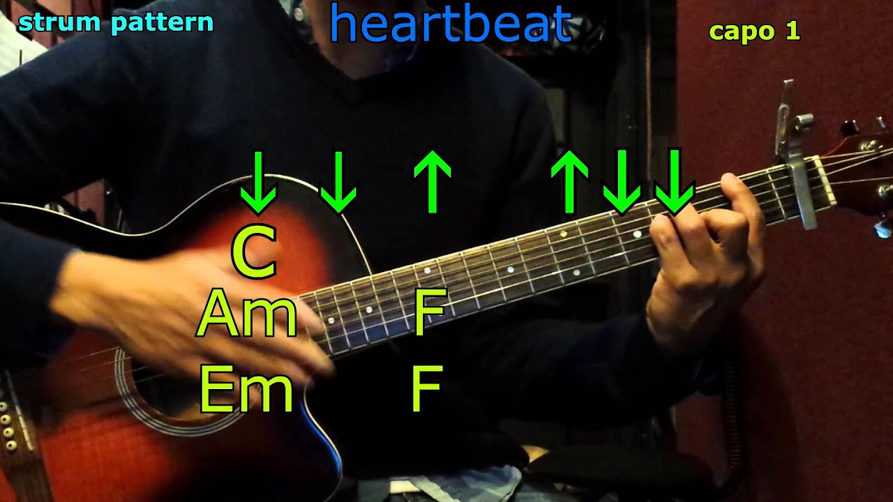 Heartbeat Carrie Underwood Guitar Chords Youtube