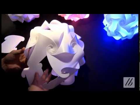 30 elements puzzle lamp, jigsaw lamp shade
