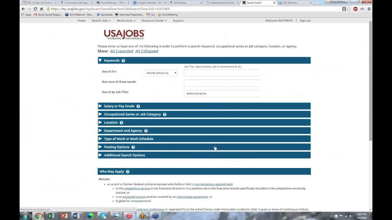 resume builder on usa jobs