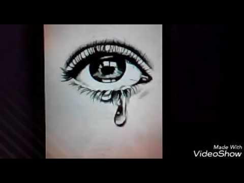 ВидеоУрок #5 ! По рисованию глаза который плачет!😭😭👀👀😇
