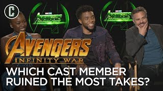 Chadwick Boseman, Danai Gurira, and Mark Ruffalo on Which Avenger Ruins the Most Takes