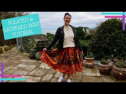 How To :: Pleated and Gathered Skirt Tutorial :: No Pattern Needed!
