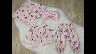 Bebek Pijama Takım Kesim Dikim Videosu | Baby Pajama Suit Cut Making Video