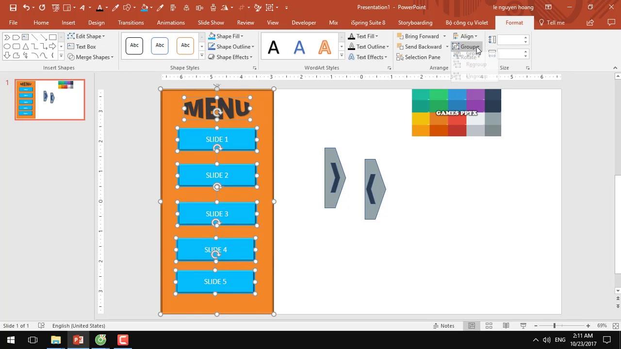 Hướng dẫn tạo Slide menu powerpoint - liên kết hyperlink