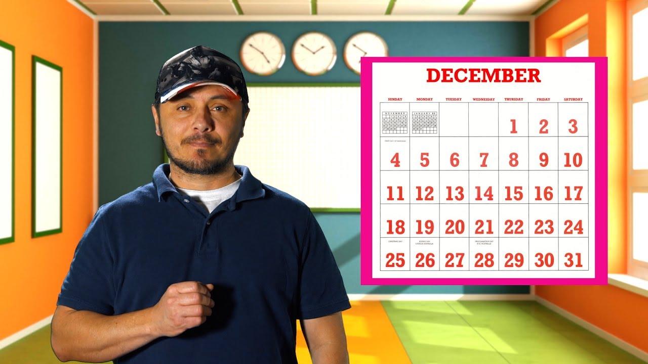 Pronunciación de los días y meses en Inglés -  Básico... pero muchos lo dicen mal.
