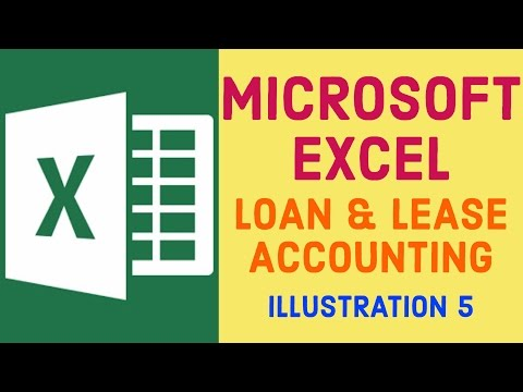 Loan & Lease Accounting | Illustration 5 | Microsoft Excel