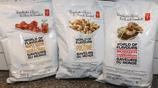 From Canada: President's Choice Maple Bacon, Poutine & Canadian Burger Review