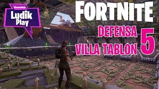 DEFENSA VILLA TABLÓN 5 - CELTIÑO | FORTNITE SALVAR EL MUNDO | Gameplay español