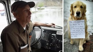 UPS Driver Thinks He's Rescuing A Lost Dog Until Reads Note Around His Neck