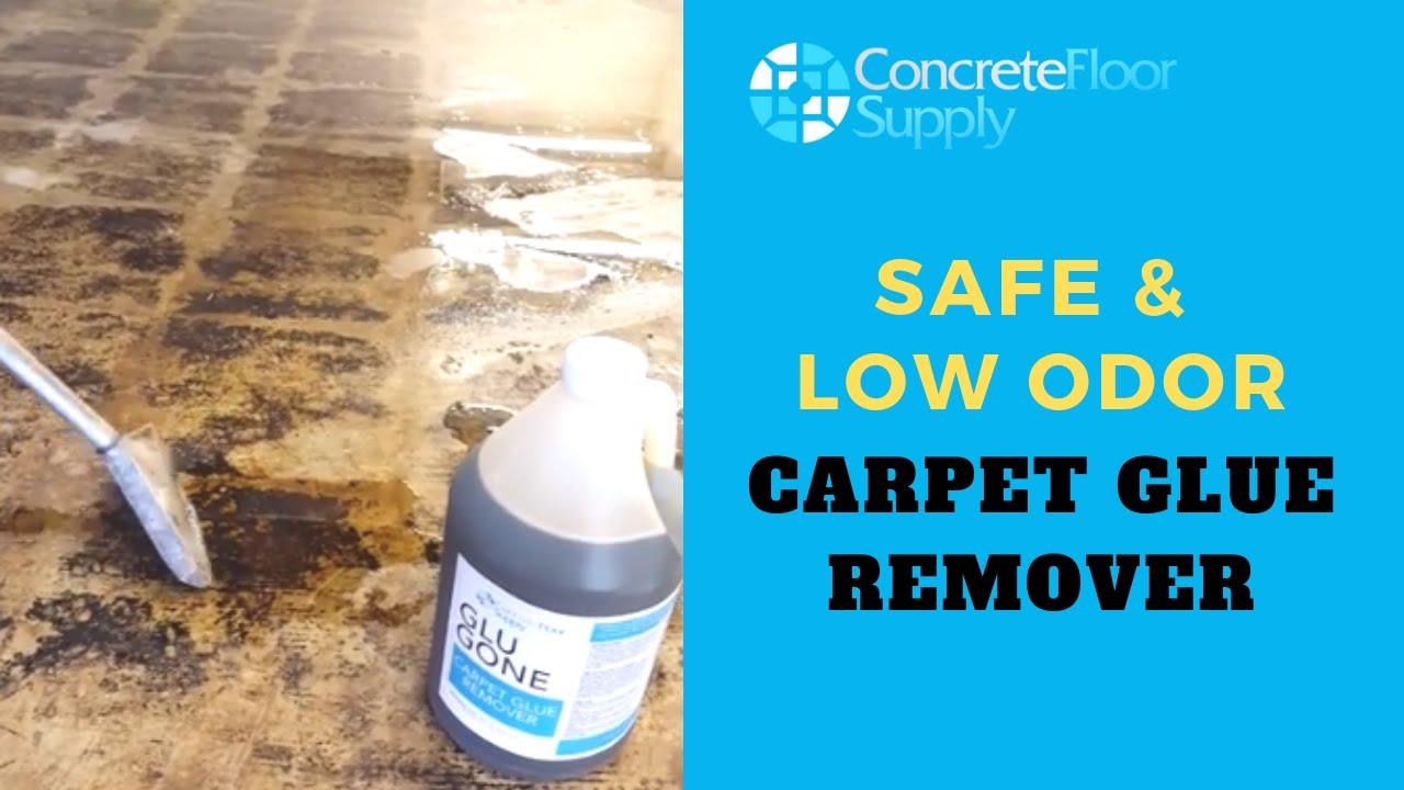 Glu Gone Concrete Floor Glue Remover Youtube