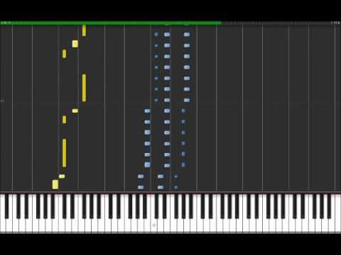 Hold The Line Toto Easy Piano Tutorial In Synthesia 100 Speed