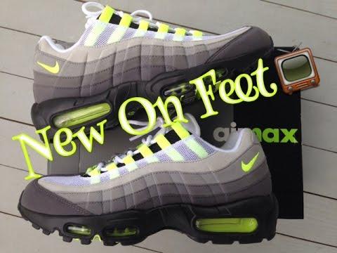 Air Max 95 Og Neon On Feet