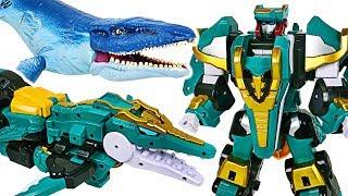 DinoCore Evolution 2 Mega D-Fighter Krono dinosaur transform with Tyranno, Tri, Dragon! #DuDuPopTOY