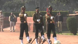 PBG soldiers performing guard of honour